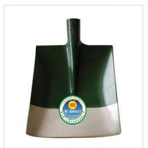 Root angle green and white agricultural shovel